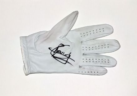 Gregory Bourdy, match-worn and signed golf glove.